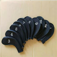 10pcs Long Neck Zipper Golf Iron Protect Headcover for Taylormade Ping Cleveland