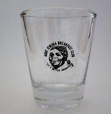 Aunt J e m i m a Logo on Clear Shot Glass