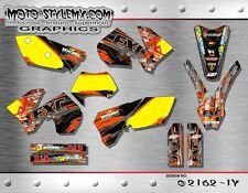 KTM EXC 125 250 450 525 2005 up to 2007 graphics decals kit Moto StyleMX