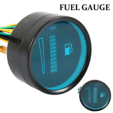 2'' 52mm Car Truck Motorcycle Fuel Level Meter Gauge LED Display Blue Light 12V.