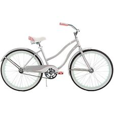 24 Inch Huffy Girls' Cranbrook  Cruiser Bike Silver And Orange