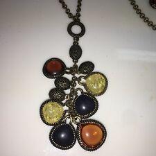 - Genuine Rock Crystal -Rv $130 Lia Sophia Caviar Antique Gold Necklace