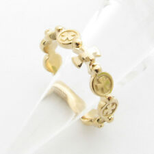 RR2034 Rosary Ring 14K 18K Solid Gold Cross ロサリオ リング
