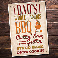 Dad's BBQ Barbeque Shed SummerHouse Sign Garden Bar Plaque Birthday Gift Him