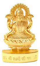 "Hindu Lord Lakxmiji Idol god Lakshmi  statue Sculptureabout 3"" Gold plated"