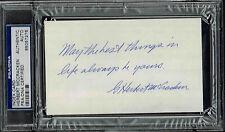 HERBERT McCRACKEN  SIGNED INDEX CARD  AUTOGRAPHED  PSA/DNA