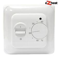 White Manual Underfloor Heating Temperature Controller Switch Thermostat Sensor
