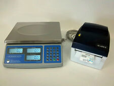Sws Pcs 60 60 Lb Price Computing Scale Lbskgsozs Withgodex Dt4 Barcode Printer