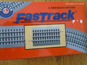 "O GAUGE SCALE LIONEL FASTRACK 5"" BLOCK SECTION 6-12060 MODEL RAILROAD TRAIN"
