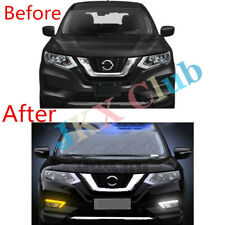 For Nissan Rogue X-Trail 2017-2020 LED DRL Daytime Running Light Fog Wiring Set