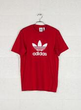 Magliette da uomo rossi grafici adidas
