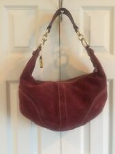 Coach Red Earth Suede  & Leather Carryall / Shoulder Bag, Hobo F0793 - F10935