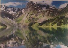 Mountain Lake ACQUA RIFLESSO NATURA Incorniciato Pronto da Appendere Tela In Legno 65x48cm