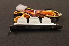 2x SATA zu 2x E-SATA + Molex Strom Port PCI Bracket   #38555