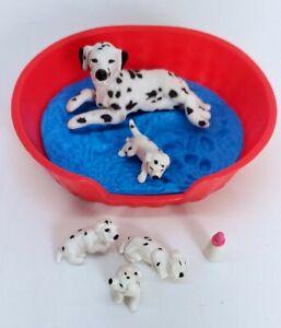 Vintage Puppy In My Pocket Dalmatian  Mimi & Puppies Hasbro 1994