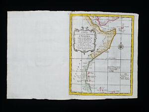 1754 J.N. BELLIN: AFRICA EASTERN, ETHIOPIA, DJIBOUTI, ERITREA, SOMALIA, AFRIQUE
