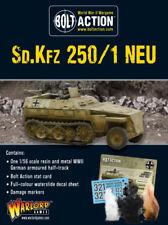 Alemán Sd. KFZ. 250/1 Half-track Perno acción Warlord Games 28mm