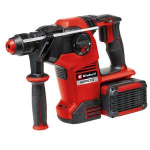 Einhell HEROCCO 36/28 Akku-Bohrhammer (+2x 4,0Ah & Twincharger Kit Meißelhammer)