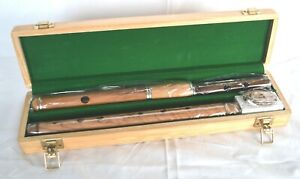 Irish Flute Traditional Keyless with Presentation case by Clearwater