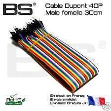 Cable ArduinoDupont mâle femelle 30cm Raspberry Pi stm32 connection liaison