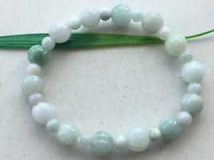 9.5mm Certified 100% Natural Jadeite Carving pumpkin beads Women Bracelet 0806