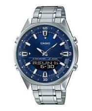 Casio AMW830D-2AV Men's Stainless Steel Blue Dial Ana-Digi Telememo 30 Watch