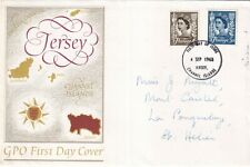 Jersey 1968 GPO First day cover VGC with enclosure