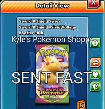 50 Vivid Voltage Codes Pokemon TCG Online Booster Pack SENT IN-GAME FAST
