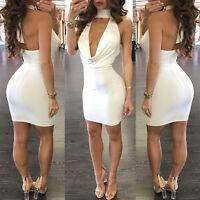 Fashion Women Bandage Bodycon Sleeveless Club Evening Party Short Mini Dress