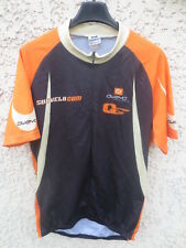 Maillot cycliste OWAYO custom cycling Sudvélo shirt jersey noir orange L