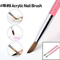 Kolinsky Sable Hair Acrylic Nail Brush Metal Crystal Handle For Manicure Tools