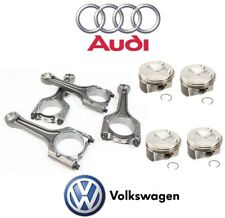 For Audi A3 A4 VW Jetta Engine Connecting Rod Set w/ 4 Piston Rings Genuine