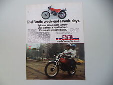 advertising Pubblicità 1978 MOTO FANTIC TX-250 TRIAL 125 cc