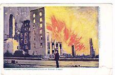 FLAMES FOLLOWING THE EARTHQUAKE SHOCK ON MARKET ST--SF CALIFORNIA-1906 POSTCARD