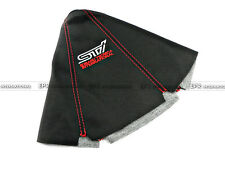 For Subaru STI Leather Gear Shift Knob Gaiter Glove Cover Red Stitch JDM