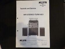 Original Service Manual Metz Hifi Stereo Turm 4851