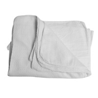 """New Heavyweight Absorbent Wiping 100%White Cotton Rags Towels- 80 Count 16""""x19"""""""
