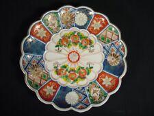 Antique Plate Japanese DaishojiImari Multi ColoredGold Accents Chrysanthemum