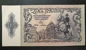 1950 Austria 10 shillings