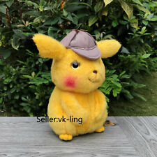 "High Quality Pokemon Go Plush Detective Pikachu 10"" Collection Stuffed Toy Doll"