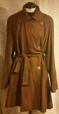 Wallis Women Brown Belted Trench Coat Jacket Size 10