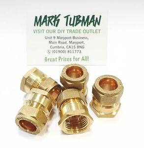 "15mm x 1/2"" BSP Compression Brass Female Iron Thread Connector Adaptor"