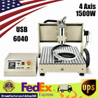 4 Axis USB 6040 CNC Router Engraver Milling Driiling Machine 1500W DIY ER11