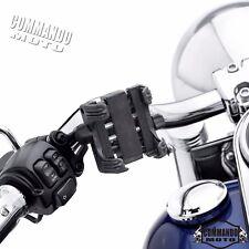 Motors Handlebar Cell Phone Holder Bracket Carrier Mount Set GPS MP3 For Harley