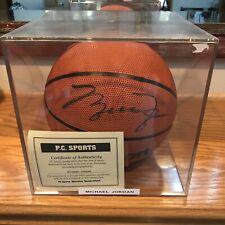 Michael Jordan Signed / Autograph Wilson Basketball w/ COA & Display Case