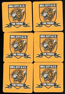 HULL CITY F.C. Pack of Official Crested Beer Mats / Coasters FREE POSTAGE UK