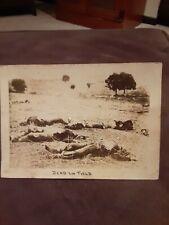 "Cs Or Us Soldiers ""Dead On The Field"". Taken At Spotsylvania Battlefield."