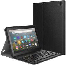 MoKo Keyboard Case Auto Wake/Sleep Cover for New Kindle Fire HD 8/8 Plus 2020