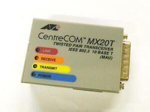 Allied Telesis Centrecom MX20T Ricetrasmittente 10Base-T Aui