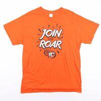 Vintage USA Orange Join The Roar Tiger Sports T-Shirt Men's Size Large